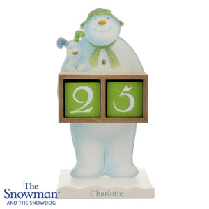 Personalised The Snowman and the Snow dog Advent Calendar