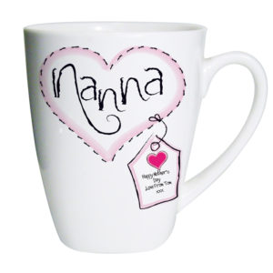 Personalised Heart Stitch Nanna Latte Mug