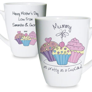 Personalised Cupcake Latte Mug