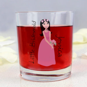 Personalised Fabulous Little Bridesmaid Juice Glass