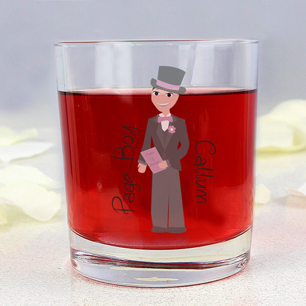 Personalised Fabulous Page Boy Juice Glass