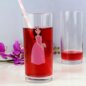 Personalised Fabulous Little Bridesmaid/Flower Girl Hi Ball Glass