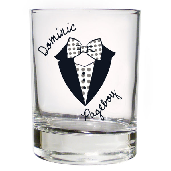 Personalised Dotty Wedding Young Male Juice Glass