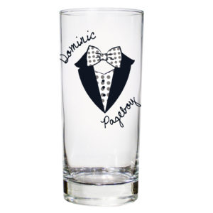 Personalised Dotty Wedding Young Male Hi Ball Glass