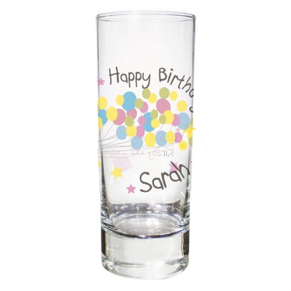 Personalised Birthday Balloon Shot Glass